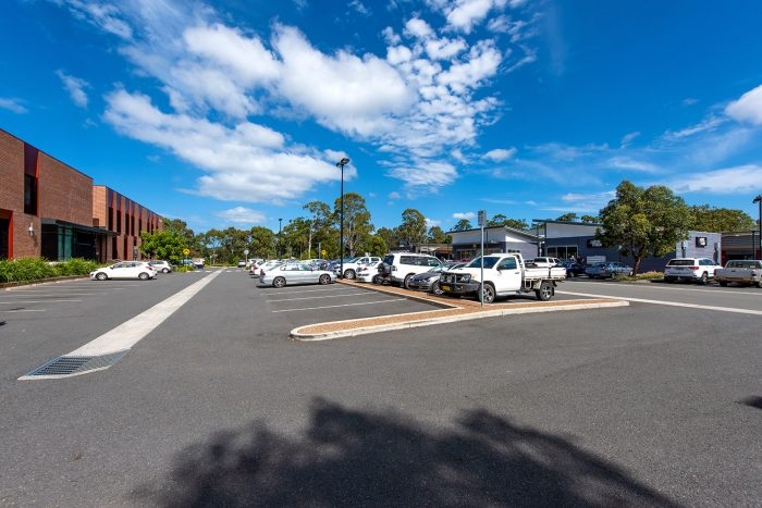 Eastern carpark between Coles Lake Innes Village shopping centre and Charles Sturt University